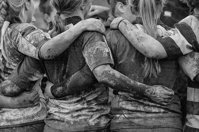 Rugby féminin épaulières