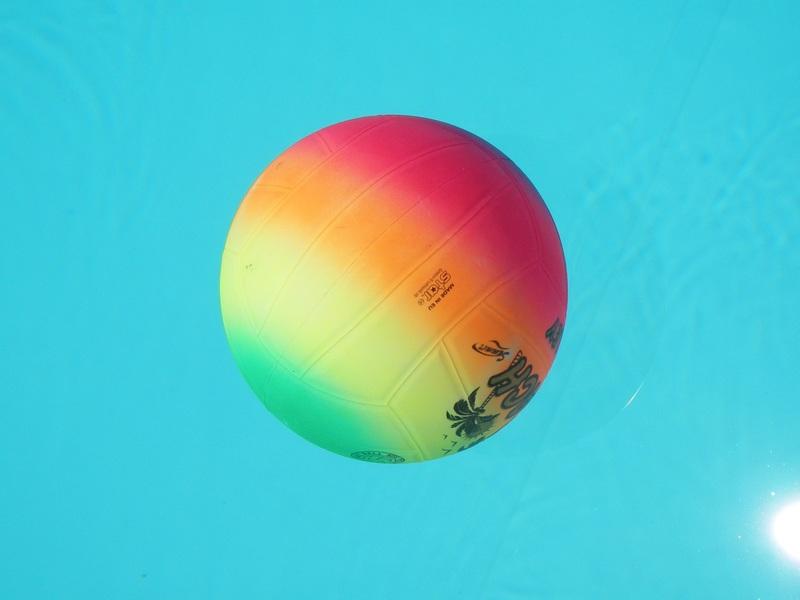 volley gonflable flottant