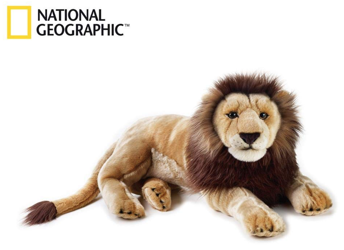 grande belle peluche lion national geographic