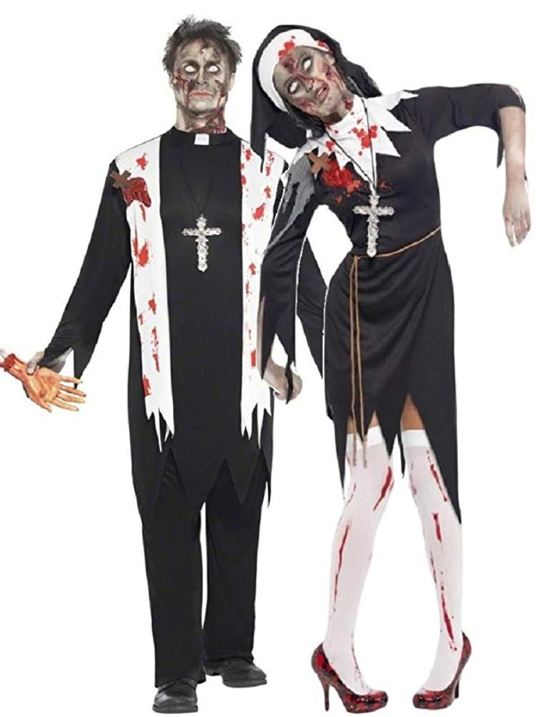 Déguisement zombie Nonne & Prêtre